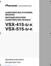 pioneer vsx 454 user manual