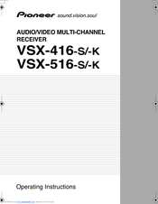 Download the pioneer vsx-516 manuals for free hifi manuals.