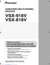 pioneer vsx 818v operating instructions manual pdf download rh manualslib com Pioneer Stereo Receiver Repair Receiver VSX Pioneer vxs-d606s