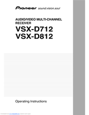 Pioneer VSX-D712 Operating Instructions Manual