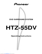 Pioneer HTZ-55DV Operating Instructions Manual
