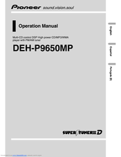 Pioneer SUPER TUNERIII D DEH-P8650MP Operation Manual