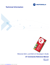 Motorola AT Commands G24-L Developer's Manual