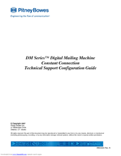 Pitney Bowes DM300c series Configuration Manual