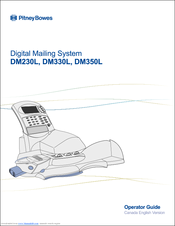 Pitney Bowes DM330L Operator's Manual