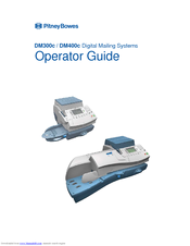 Pitney Bowes DM400c series Operator's Manual