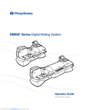 Pitney Bowes DM800 Series Operator's Manual