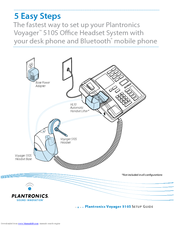 plantronics voyager 510s manuals rh manualslib com plantronics voyager 510 user guide Pairing Plantronics Bluetooth Headset