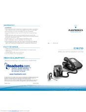 Plantronics cs70n manuals.