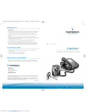 plantronics cs70n manuals rh manualslib com Plantronics CS70 Setup Plantronics CS70 Setup