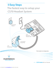 plantronics cs70 series manuals rh manualslib com Plantronics CS70 NC Plantronics CS70 NC