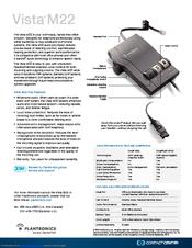 plantronics vista m22 amplifier manuals rh manualslib com Mute Plantronics CS55 User Guide plantronics vista m12 user manual