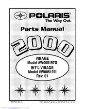 POLARIS VIRAGE W005197D PARTS MANUAL Pdf Download