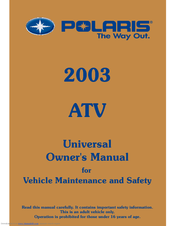 polaris predator 90 manuals rh manualslib com polaris predator 90 repair manual download polaris sportsman 90 service manual