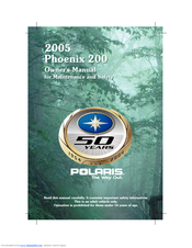 polaris phoenix phoenix 200 owner s manual pdf download rh manualslib com polaris phoenix 200 workshop manual 2005 polaris phoenix repair manual
