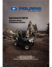 polaris sportsman 500 x2 quadricycle 2008 service manual