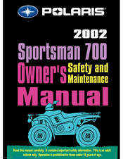 Polaris 2002 SPORTSMAN 700 Manuals on