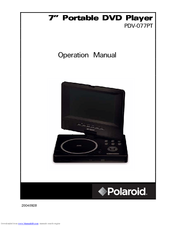 polaroid pdv 077pt manuals rh manualslib com RCA Portable DVD Player Portable DVD Player