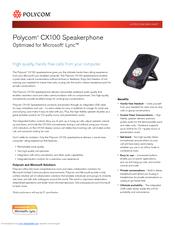polycom cx100 brochure  2 pages Microsoft Lync Phones Setup Polycom CX700
