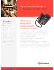 polycom soundpoint pro se 225 manuals rh manualslib com Polycom Phones Clarity Polycom Manual