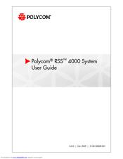 polycom rss 4000 manuals rh manualslib com polycom rss 4000 installation guide polycom cma 4000 admin guide