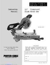 Porter Cable 3807 Instruction Manual Pdf Download Manualslib