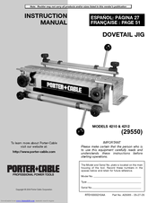 Porter-Cable 4212 Instruction Manual