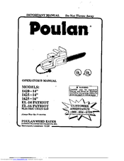 Poulan Pro PATRIOT EL-14 Operator's Manual