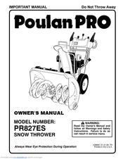 Poulan Pro PR827ES Owner's Manual
