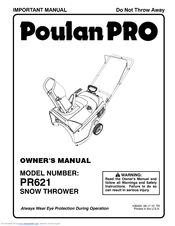 Poulan Pro PR621 Owner's Manual