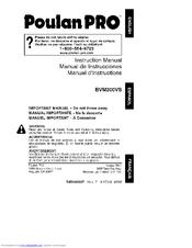 Poulan Pro Bvm200vs Instruction Manual Pdf Download Manualslib