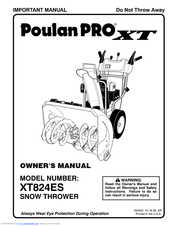 Poulan Pro PR827ES User Manual