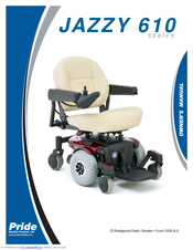 PRIDE JAZZY 610 SERIES OWNER'S MANUAL Pdf Download. on