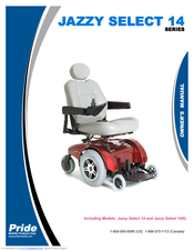 PRIDE MOBILITY JAZZY SELECT 14, JAZZY SELECT 14XL OWNER'S MANUAL Pdf on