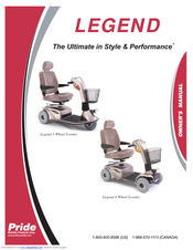 pride mobility legend 3 wheel scooter manuals rh manualslib com pride legend service manual Pride Legend 3 Wheel Scooter