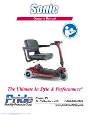 pride mobility sonic manuals rh manualslib com Sonic Pride Mobility Scooter Battery Pride Sonic Factory Service Manual