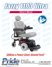 PRIDE MOBILITY JAZZY 1103 ULTRA OWNER'S MANUAL Pdf Download. on