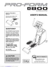 Proform i series 800 manuals.