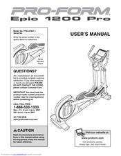 proform epic 1200 pro manuals rh manualslib com Horizon E95 Elliptical Parts Horizon E95 Elliptical Parts