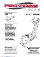 Proform 600e Manuals