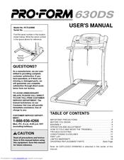 proform 630 ds user manual pdf download rh manualslib com Proform 542E Treadmill Proform 630DS Review