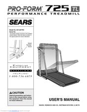 proform 725 tl 831 297763 user manual pdf download rh manualslib com Proform 725 Treadmill Parts Proform Crosswalk Treadmill