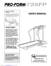 proform 725 fp treadmill manuals rh manualslib com Proform Treadmill Manual Proform 740CS Manual