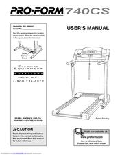 proform 740cs user manual pdf download rh manualslib com Proform 740CS Parts proform 740cs treadmill price
