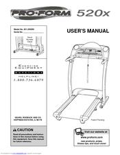 proform 520x manuals rh manualslib com proform 520 zlt treadmill user manual proform 520x treadmill owners manual