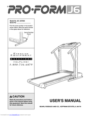 Manuals And User Guides For Proform J6 We Have 4 Available Free Pdf Manual