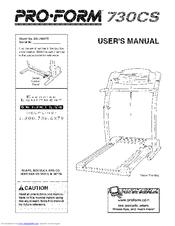proform 730cs manuals rh manualslib com Proform Treadmill Model 730CS proform 730cs treadmill manual