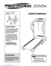 proform 320x manuals rh manualslib com ProForm Crosswalk 390 Treadmill proform crosswalk 325x parts