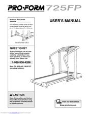 proform 725 fp treadmill manuals rh manualslib com Proform Elliptical Manual ProForm XP 130 Manual