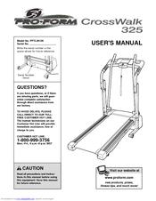 proform crosswalk 325 manuals rh manualslib com ProForm Crosswalk 325 Treadmill proform 325x crosswalk treadmill owners manual
